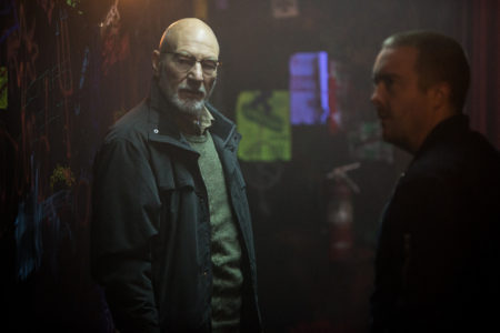 "Patrick Stewart in ""Green Room."" © A24 Photo by Scott Patrick Green, courtesy of A24."
