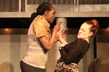 Ithica Tell as Othello and Jessica Tidd as Iago: passion and betrayal. Photo: Carrie Anne Huneycutt