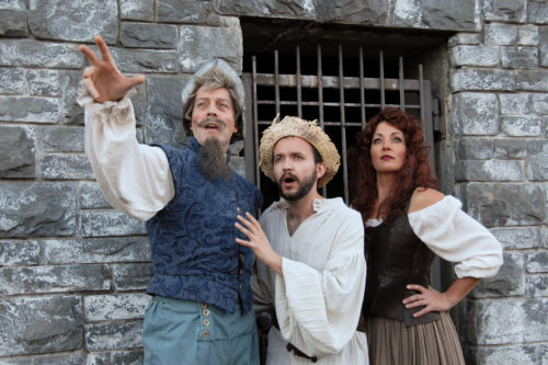"Leif Norby (left), Joey Corté, and Pam Mahon in Lakewood's ""La Mancha."" Photo: Triumph Studios"