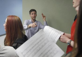 A3 Choir Director Torrey Newhart. Photo: Andy Nelson/The Register-Guard.