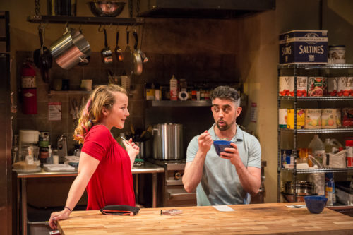 Jahnavi Alyssa and John San Nicholas: hot water, hot soup. Photo: Owen Carey