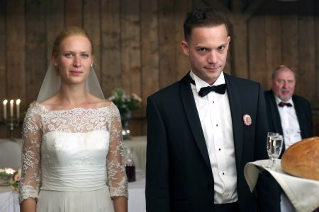 "The happy couple celebrates their wedding in ""Demon."""