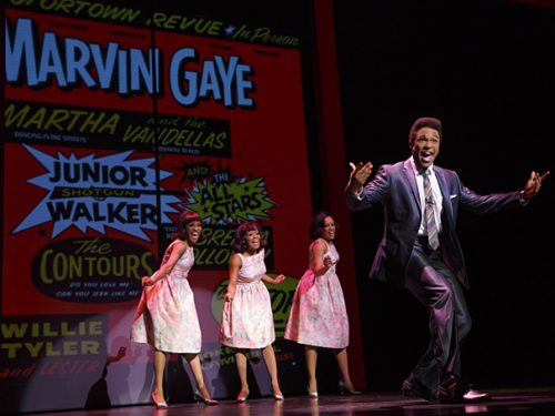"""Jarran Muse as Marvin Gaye & cast in the national tour of """"Motown The Musical."""" Photo: Joan Marcus"""