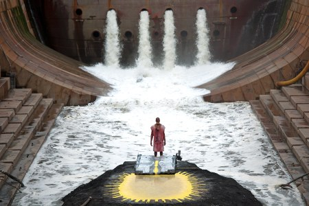 "The water flows in ""River of Fundament."""