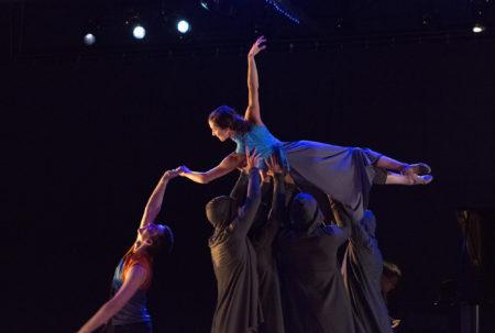"Juliet, rising: Katie Scherman in ""Romeo and Juliet."" Photo: Blaine Truitt Covert"
