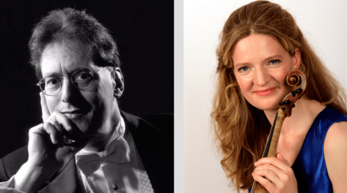 Pianoforte virtuoso Robert Levin and Berwick Academy director Rachel Podger. Photos courtesy Oregon Bach Festival