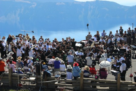 The Britt Orchestra at Crater Lake (Jim Teece)