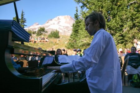 Noack performed at Timberline Lodge.