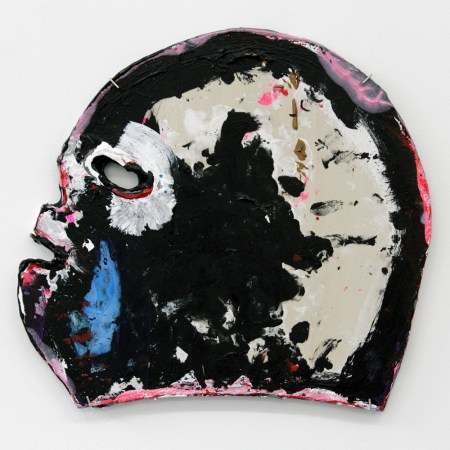 "Victor Maldonado, Lucha Mask II, acrylic on wood, 10.5 by 11.5"", 2016/Courtesy of Froelick Gallery"