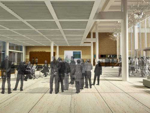 Artist's rendering of Rothko Pavilion entry space.