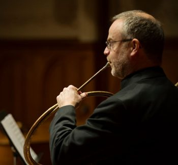 Hornist Andrew Clark gives a pre concert talk at Portland Baroque Orchestra's concerts this weekend. Photo: Tori Ava.