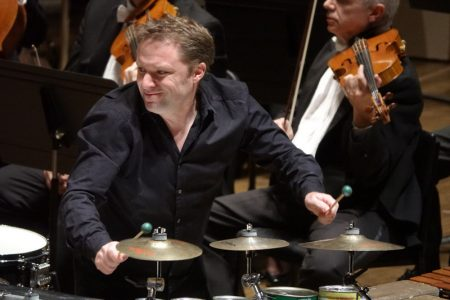 Percussionist Colin Currie performed with the Oregon Symphony. Photo: Joe Cantrell.