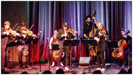 Friends of Chamber Music brought collectif9 to Portland. Photo: Steve Billow.