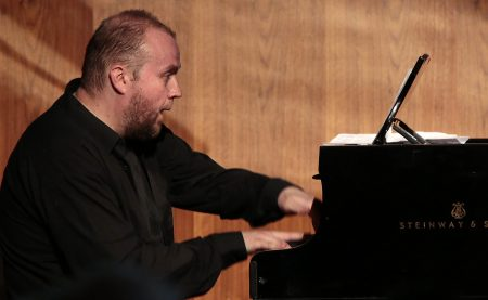Maciej Grybowski performs at Portland's Polish Hall.