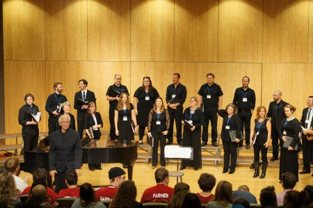 Bruce Browne with Choro in Schola singers.