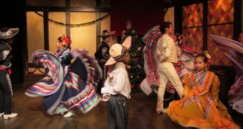 "In the whirl at ""Posada Milagro."" Milagro Theatre photo."