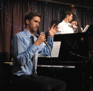 Torrey Newhart (piano), Sean Peterson (bass) perform at Eugene's Jazz Station. Photo: Gary Ferrington.