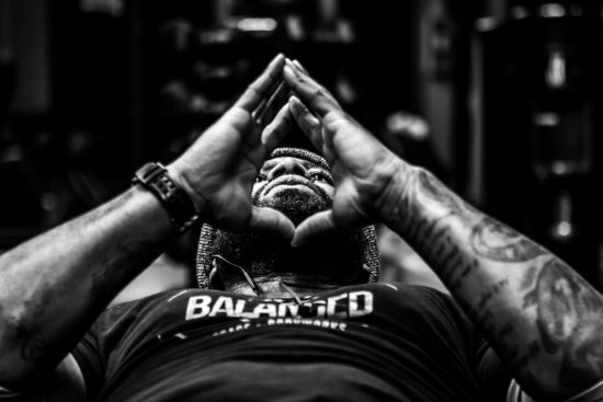"""Be Calm and Keep Breathing"" is part of Darnell McAdams' ""Black Santa Project,"" selections from which were part of a photography show at the Chehalem Cultural Center in Newberg this winter. It will be exhibited May 14-June 11 at the Blue Sky Gallery in downtown Portland."