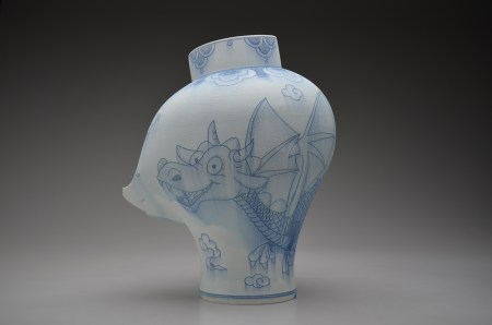 Steven Young Lee Jar with Cloud and Dragon