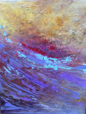 """Lynne Wintermute will be showing oil and cold wax paintings, such as """"Washed Ashore,"""" in her Neskowin studio."""