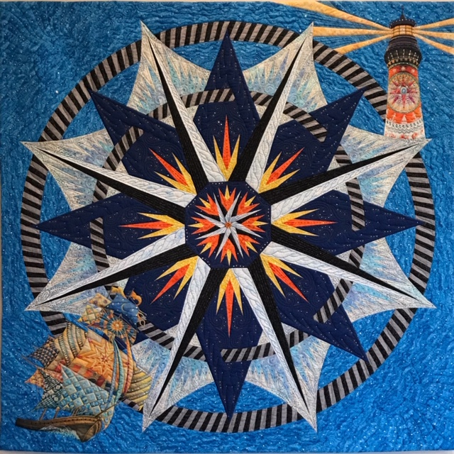 """""""Heading Home,"""" a joint effort by members of the Oregon Coastal Quilters Guild, will be raffled off at the Quilts by the Sea show."""