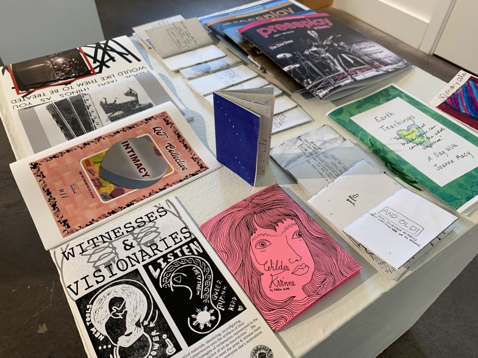 Bush Barn Art Center & Annex in Salem has opened one of its galleries to a selection of 'zines by Oregon artists, along with work by Salem artists Miranda Abrams and Eilish Gormley.