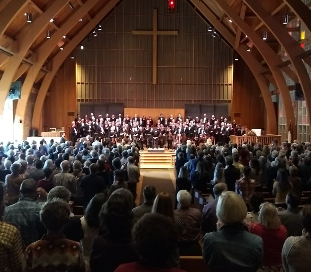 Oregon Repertory Singers at First United Methodist Church in 2018. Photo by Paige Baker.