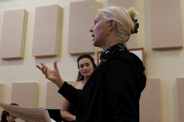 Anne Sofie von Otter at Friends of Chamber Music masterclass, October 2019. Photo by Susan Harris.