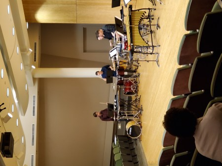 Portland Percussion Group in Lincoln Recital Hall. Photo by Happi Yi.