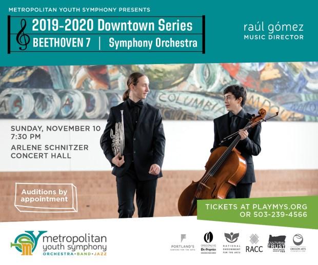 Metropolitan Youth Symphony November 2019 concert