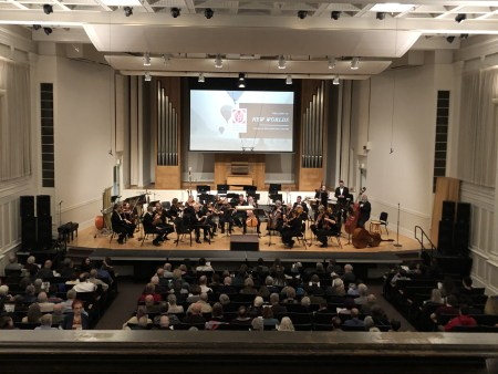 Oregon Music Players performed Reena Esmail and Kevin Puts, October 2019 in Eugene's Beall Hall. Photo by Clarissa Parker.