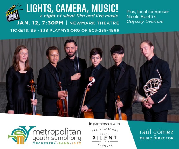 Metropolitan Youth Symphony Lights, Camera, Music!