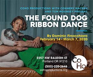 Coho Found Dog Ribbon Dance