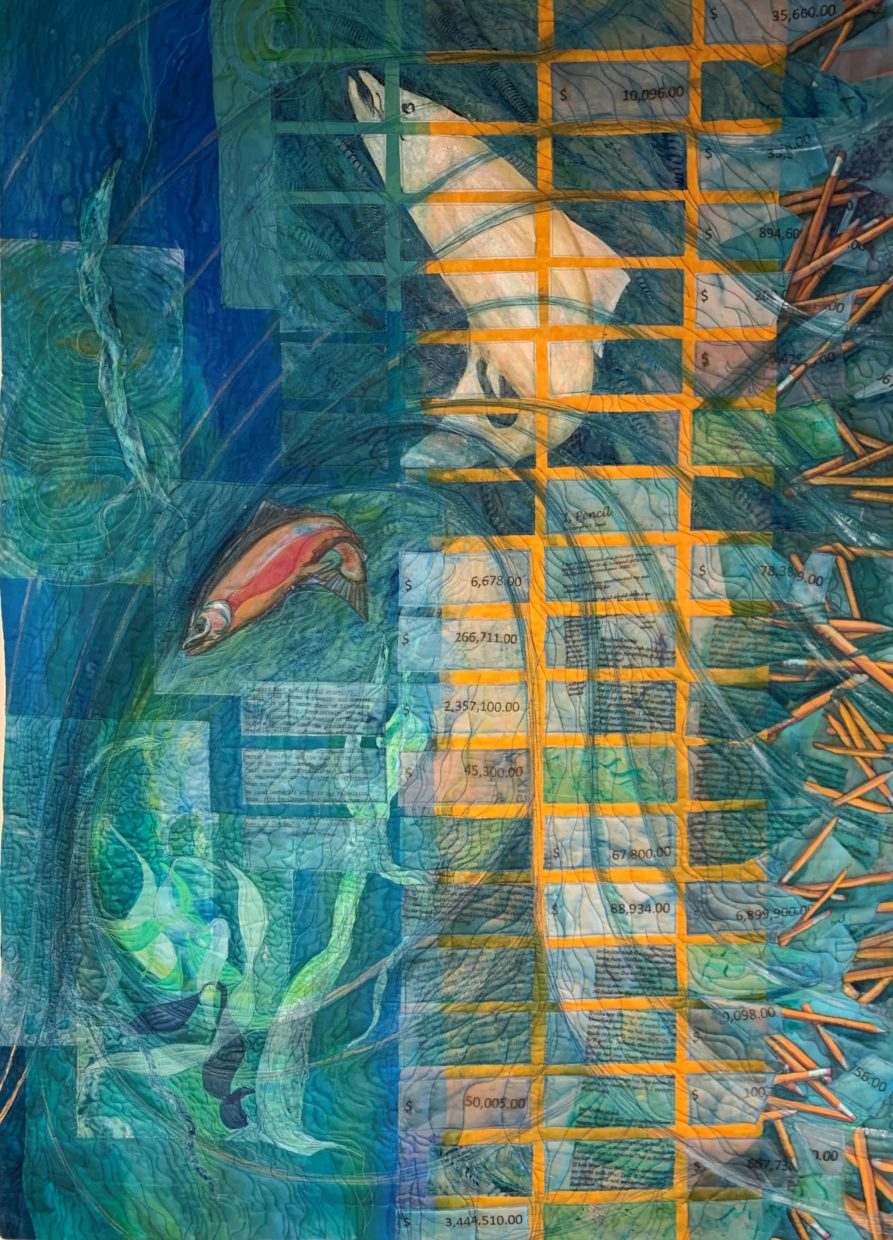 """Surging Tides of Consequence,"" by Clare Attwell. 56 by 40 inches"