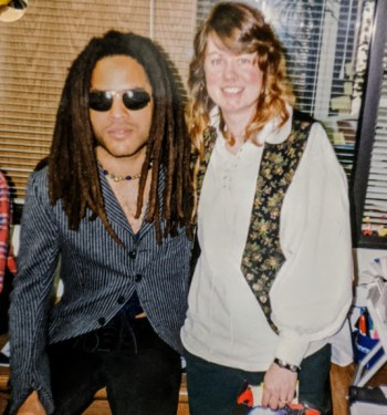 Altomare met Lenny Kravitz when she was working for music trade publication HITS Magazine. Photo courtesy: Betsy Altomare