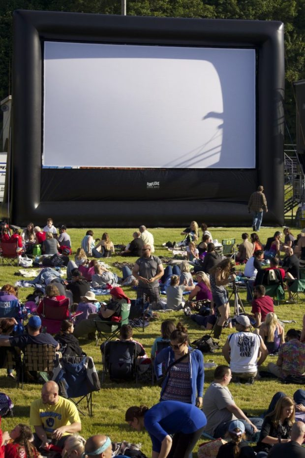 Long before social distancing, crowds gathered in Astoria's John Warren Field for the 30th annual Goonies Day in 2015. This year's event will largely be held virtually. Photo courtesy: Astoria-Warrenton Area Chamber of Commerce