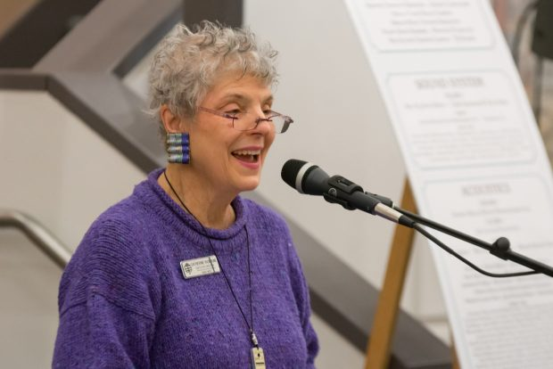 """In announcing her retirement from the Oregon Coast Council for the Arts, Catherine Rickbone told the board of directors that her tenure with the council """"was made up of billions of moments, millions of interactions, thousands of programs, hundreds of decisions, and uncountable challenges and joys."""" Photo courtesy: Oregon Coast Council for the Arts"""