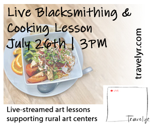 travelyr blacksmithing and cooking lesson