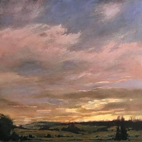 """Michael Orwick, """"Cloud Opening"""" (oil on panel, 12 by 12 inches)"""