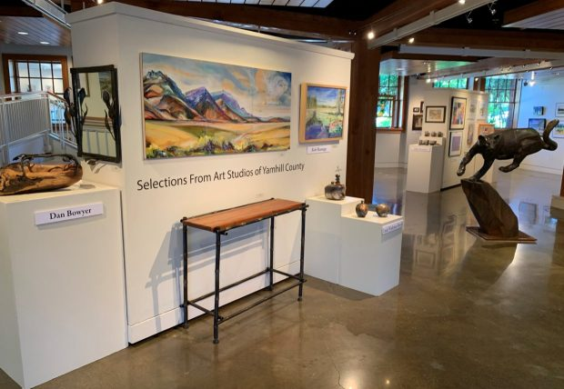 The Parrish Gallery of the Chehalem Cultural Center is showing the work of more than 40 Yamhill County artists through Sept. 19. Photo by: David Bates