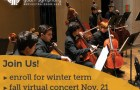 Metropolitan Youth Symphony winter enrollment November 2020 concert