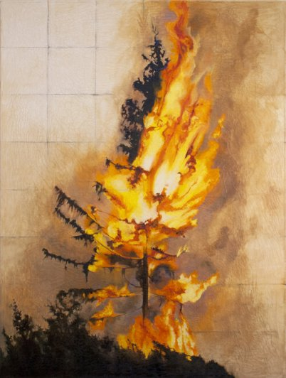 """""""Candle"""" by Natalie Niblack (oil on canvas, 2020, 48 by 36 inches)"""