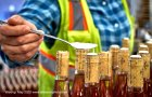 """""""Waxing"""" (May 2020), Chitty writes, """"shows the care and attention that is applied to every iteration of a repetitive task."""" The cork on each of the thousands of bottles is finished with a wax disc applied by hand. """"If it isn't perfect the wax is removed and reapplied."""""""
