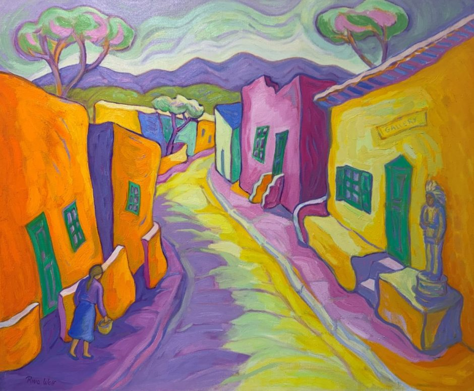 """""""Early Morning Canyon Road,"""" by Riva Wolf (oil on linen, 25 by 30 inches)"""