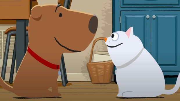 """""""Chocolate Cake & Ice Cream,"""" an animated short about friendship between a dog and cat by Steve Cowden of Lake Oswego, is on the schedule for the McMinnville Short Film Festival."""