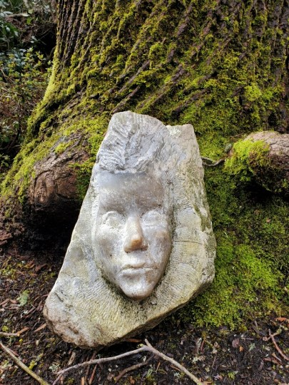 Among the things Lisa Mayfield's boyfriend left her after his death were masks he carved from stone. The story she will read in the Cannon Beach Library's Writers Read Celebration explores the gifts she gained from that difficult relationship. Photo Courtesy: Lisa Mayfield