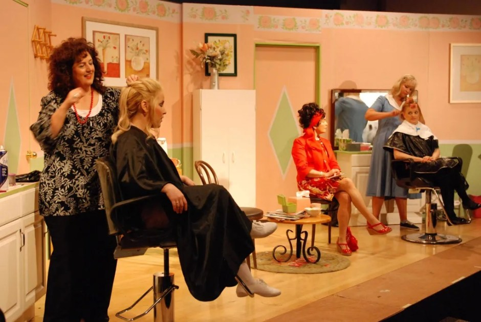 """Mantiri (third from right) appears in the final dress rehearsal before opening night for """"Steel Magnolias"""" at Beaverton Civic Theatre in 2013. Photo courtesy: Mantiri Family Archives"""