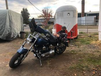 His role as Kurt tapped Ryan Findley's experience riding motorcycles – which he says consisted of running paychecks from Salem to Dundee one time. Photo courtesy: Ryan Findley