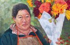 """Tara Kemp's """"The Flower Vendor"""" is included in the Art About Agriculture show in the Chehalem Cultural Center."""
