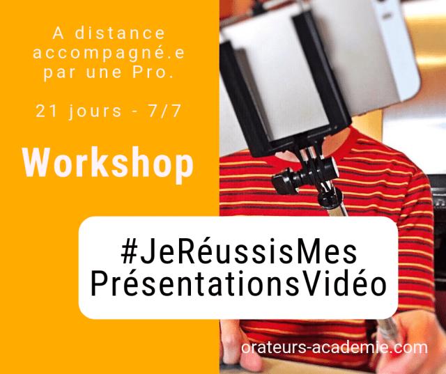 je réussis mes présentations vidéo - affiche workshop
